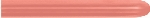 GLOBO LATEX METAL ROSA DORADO 5cmX150cm