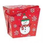 Caja Regalo Snowman Paper Quart Pails