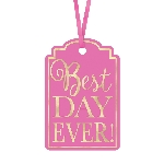 Etiquetas Bright Pink Best Day Ever! Tags
