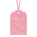 Etiquetas BEST DAY EVER Nuevo Rosa