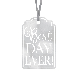 Etiquetas Silver Best Day Ever! Tags