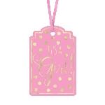 Etiquetas Pink Foil Stamped Tags 6cm x 9cm