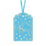Etiquetas Blue Foil Stamped Tags 6cm x 9cm