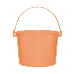 Cubo Orange Plastic Bucket w/Handles