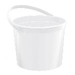 Cubo White Plastic Bucket w/Handles