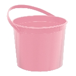 Cubo Light Pink Plastic Bucket w/Handles
