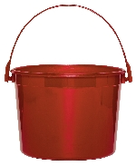 Cubo Apple Red Plastic Bucket