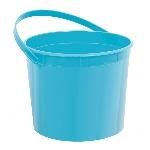 Cubo Caribbean Blue Plastic Bucket w/Handles
