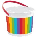 Cubo Rainbow Plastic Bucket 11.4cm x 15cm d