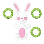 GAME RING TOSS BUNNY INFL