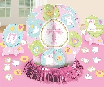 Centro de Mesa Pink Christening Table Decorations Kits