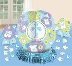 Centro de Mesa Blue Christening Table Decorations Kits