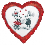 "18""/45cm MICKEY & MINNIE HOLOG LOVE (EMPAQUETADOS)"