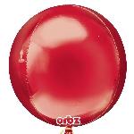 Globos Rojos Esfera Metalizados de Cumpleaños - Aluminio 40-45cm