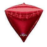 Globo Rojo con forma de Diamantes - Aluminio 24'' - Sin empaquetar