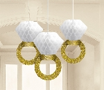 Decoracion Colgante Pompom Honeycomb Ring Decorations 17cm