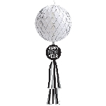 Decor.Colgante Disco Ball Glitter Honeycomb Ball with Tail 70cm