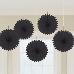Decoracion Colgante Abanico Black Card Fans 15cm