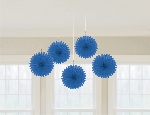 Decoracion Colgante Abanico DECOR. COLGANTE FLORES ROYAL BLUE