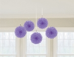 Decoracion Colgante Abanico Purple Mini Paper Fans 15.2cm