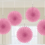 Decoracion Colgante Abanico New Pink Card Fans 15cm