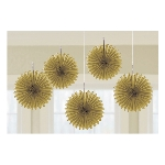 Decoracion Colgante Abanico Gold Card Fans 15cm