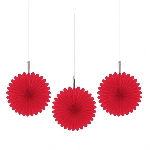 Decoracion Colgante Abanico Red Mini Paper Fans 15cm