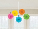Decoracion Colgante Abanico Multi Colour Mini Paper Fans 15cm