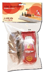 KIT TARTA COCHE CARS (PLASTICO)