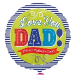 "*18""/45cm FATHER´S DAY BLUE (EMPAQUETADOS)"