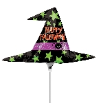 Halloween Witch Hat Mini Shape Foil Balloons