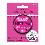Chapa Birthday Princess Flashing 5.7cm