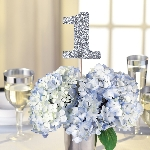 Marcasitios Silver Glitter Table Number Picks -