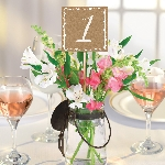 Marcasitios Rustic Table Number Picks