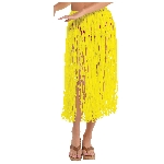 GRASS SKIRT ADULT NEON