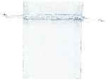 Bolsa organza White  - 10cm x 7.6cm