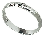 Anillos Silver Wedding Band Table Sprinkles 88