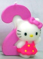 Vela Hello Kitty 7cm: Nº2