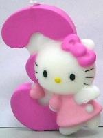 Vela Hello Kitty 7cm: Nº3