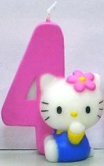 Vela Hello Kitty 7cm: Nº4