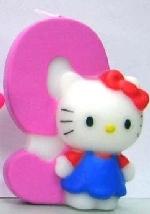 Vela Hello Kitty 7cm: Nº9