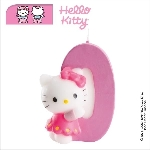 Vela Hello Kitty 7cm: Nº0