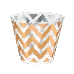 Vaso Rose Gold Chevron Premium Plastic Tumblers 256ml