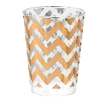 Vaso Rose Gold Chevron Premium Plastic Tumblers 284ml