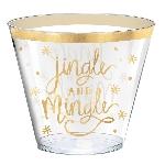 Vaso Grande Jingle and Mingle Hot Stamped Plastic 266ml