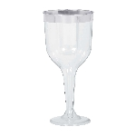 Copa Silver Trim Premium Wine Glasses 284ml