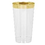 Vaso Gold Trim Premium Plastic Tumblers 454ml