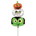 Halloween Heads Mini Foil Balloons