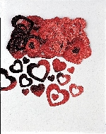 Confeti met:DIE-CUT HEART red