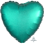 "18""/45cm CORAZON Satin Jade Heart"